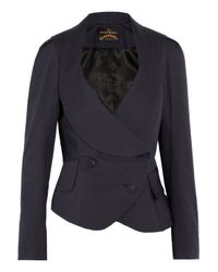 Vivienne Westwood Anglomania - Blue Tempest De Corps Stretch-Cotton Blend Jacket - Lyst