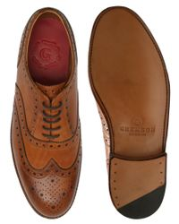 Foot The Coacher | Brown Brogue Shoe for Men | Lyst