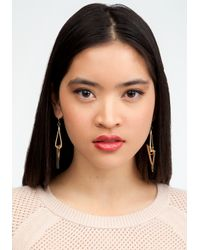 Bebe - Metallic Mixed Metal Geometric Earrings - Lyst
