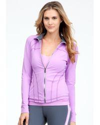 Bebe - Purple Logo Funnel Jacket Bebe Sport Web Exclusve - Lyst