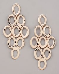 Ippolita | Pink Rose Gold Open Cascade Post Earrings | Lyst