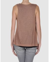 Cacharel - Brown Top - Lyst