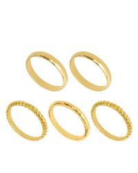 ASOS - Metallic Multipack Textured Rings - Lyst