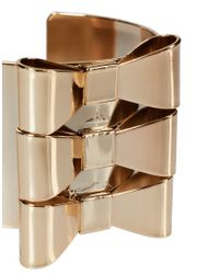 ASOS Collection | Metallic Pack Of Two Bow Cuff Bracelets for Men | Lyst