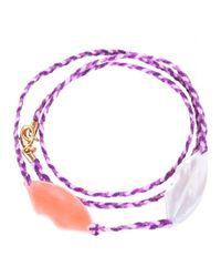 Aurelie Bidermann | Purple Special Lips Charm Necklace | Lyst