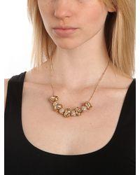 BaubleBar - Metallic Gold Disco Knot Necklace - Lyst