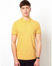 Ben Sherman | Yellow Pique Polo for Men | Lyst