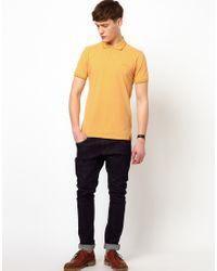 Ben Sherman - Yellow Pique Polo for Men - Lyst