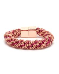 Bex Rox | Pink Gina Twisted Rose Gold Bracelet | Lyst