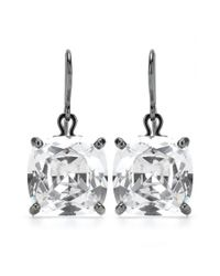 Bottega Veneta | Metallic Faceted Oxidized Silver Crystal Pendant Earrings | Lyst