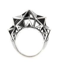 Bottega Veneta | Black Sterling Silver Cocktail Ring | Lyst