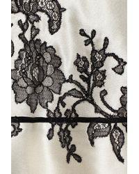 Carine Gilson - White Lace Appliqué Silksatin Camisole - Lyst