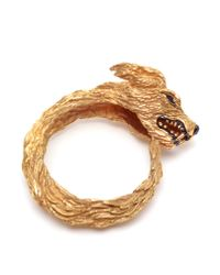 Duffy | Metallic Hand-made Gold Plated Wolf Cuff | Lyst