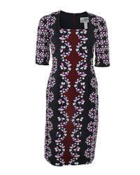 Erdem   Blue Sophia Viscontibloom Silk Dress   Lyst