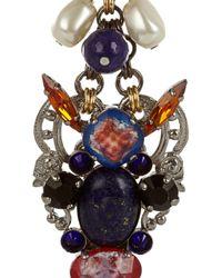 Erickson Beamon | Blue Copacabana Gold-plated Enamel Earrings | Lyst