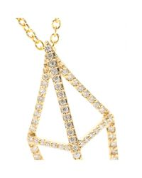 House of Waris - Lantern 18kt Yellow Gold Necklace With White Diamonds - Lyst
