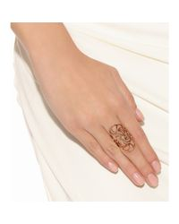 Ileana Makri - Metallic 18kt Rose Gold Lace Ring - Lyst