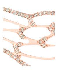 Ileana Makri - 18kt Pink Gold Angel Wing Earrings with Brown Diamonds - Lyst