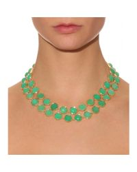 Irene Neuwirth - Green 18kt Yellow Gold Necklace With Chrysoprase Stones - Lyst