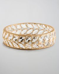 Jamie Wolf | Metallic Tworow Marquise Topaz Leaf Bangle | Lyst