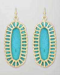 Kendra Scott | Blue Dayla Small Drop Earrings Turquoise | Lyst