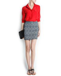 Mango - Red Touch Tasseled Necklace - Lyst
