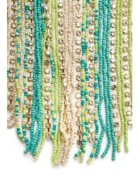 Mango | Green Beads Cascading Necklace | Lyst