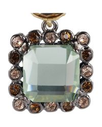 Marc By Marc Jacobs - Gray Dangly Brass and Crystal Earrings - Lyst