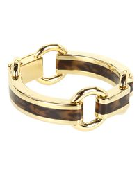Michael Kors - Metallic Jet Set Tortoise Link Bracelet - Lyst
