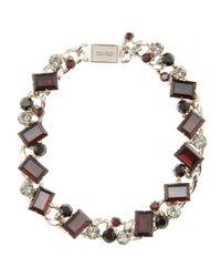 Miu Miu - Black Crystal Bead Embellished Necklace - Lyst