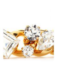 Miu Miu - Metallic Crystal Bead Embellished Bracelet - Lyst