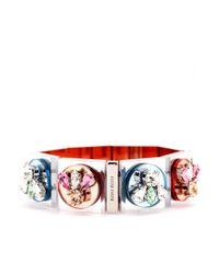Miu Miu - Metallic Mirrored Crystal Embellished Bracelet - Lyst
