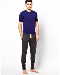 Paul by Paul Smith - Blue Short Sleeve Henley Tshirt for Men - Lyst