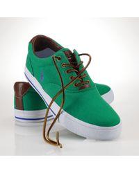 Polo Ralph Lauren - Green Vaughn Sneaker for Men - Lyst