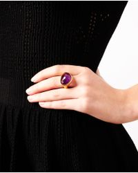 Ram - Purple Hammered 22k Gold And Amethyst Ring - Lyst