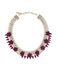 Roberto Cavalli | Metallic Crystal-embellished Necklace | Lyst
