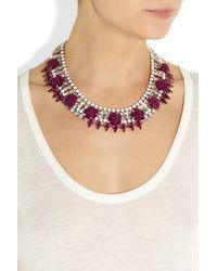 Roberto Cavalli   Metallic Crystal-embellished Necklace   Lyst