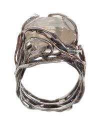 Sandra Dini | Metallic Quartz Ring | Lyst