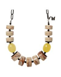 Weekend by Maxmara | Yellow Valdese Mixed Bead Necklace | Lyst