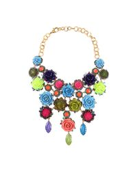 Erickson Beamon - Multicolor Rose Garden Bib Necklace - Lyst