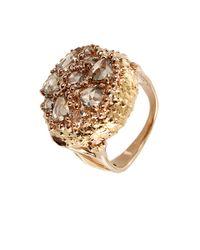 Federica Rettore - Metallic Rose Cut Cognac Diamond Ring for Men - Lyst