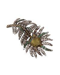 Iradj Moini - Multicolor Citrine and Emerald Feather Pin - Lyst