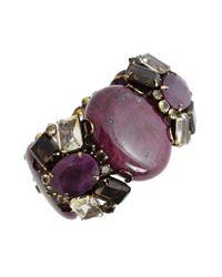 Iradj Moini - Purple Triple Ruby Bracelet with Topaz - Lyst