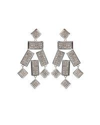 Kara Ross - Metallic Geo Gemstone Earrings - Lyst