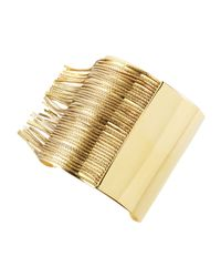 Michael Kors | Metallic Fringe Cuff Bracelet | Lyst
