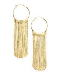 Michael Kors - Metallic Hoop Fringe Earrings - Lyst