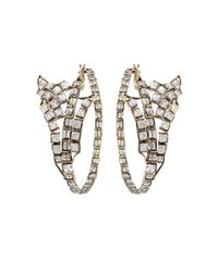 Nak Armstrong | Metallic Moonstone Wing Hoop Earrings | Lyst