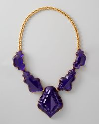 Oscar de la Renta - Purple Resin Chandelier Necklace - Lyst