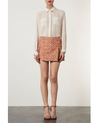 TOPSHOP - Multicolor Origami Skirt - Lyst