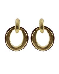 Vaubel - Metallic Wood Door Knocker Clip Earrings - Lyst